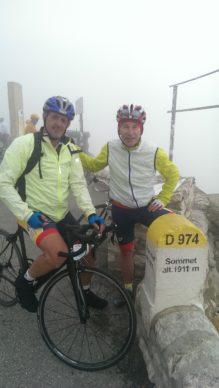 Christian et Pascal au sommet du Mont Ventous